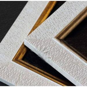 Marco Plastico Blanco Lino Filete Dorado  10x15