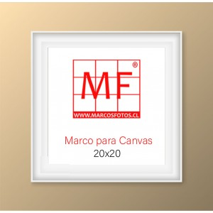 Marco L  para Canvas 20x20 Blanco