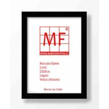 Marco Diploma Madera Negra   22x28 (carta)