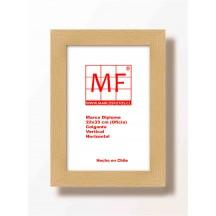 Marco 22x33 3 cm  Plana  madera Mañio Bruto