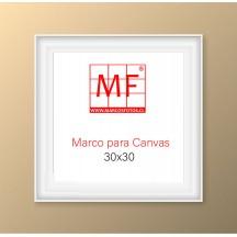 Marco L  para Canvas 30x30 Blanco