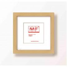 Marco 30x30 3  cm Plana  madera Mañio Bruto Con Paspartu blanco para foto 20X20