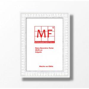 Marco Madera Greca Blanca   40x50