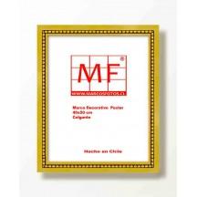 Marco Madera Dorado Filete Perla  40x50