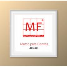 Marco L  para Canvas 40x40 Blanco
