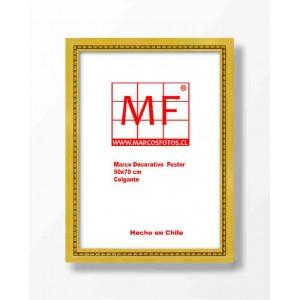 Marco Madera Dorado Filete Perla  50x70