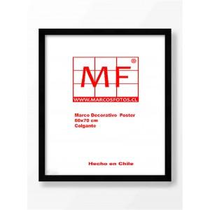 Marco Madera  Negra Chaflan 60x70