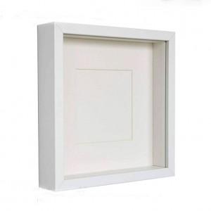 Marco  Caja Plastica 15X15 Blanca