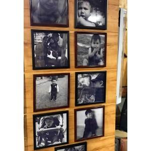 Pack10 Marcos Ecologicos Burdeo  para fotos 20x20 o para fotos 10x10