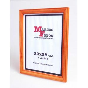 Marcos Diploma medida 22x28 cm DISPONIBLE EN 2 COLORES MAS (café y natural)